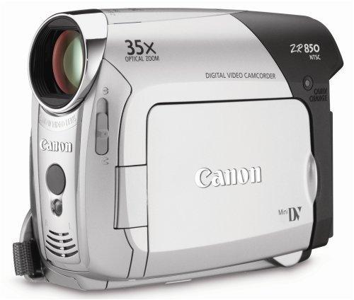 "Canon ZR850 Silver 1/6"" CCD 2.7"" 112K LCD 35X Optical Zoom MiniDV Cassette Digital Camcorder"