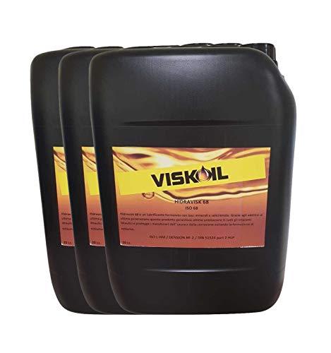 Viskoil - 60 litros de aceite hidráulico ISO 68 para excavadoras, tractores