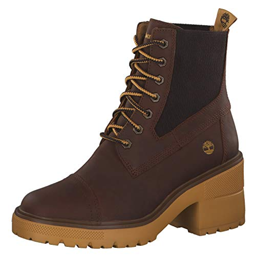 Timberland Damen Boots Silver Blossom Mid Md Brown Full Grain 40
