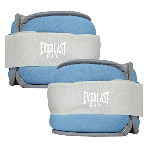Everlast Comfort Fit Ankle/Wrist Weights 2.5 lb Each – 5 lb Total - Blue
