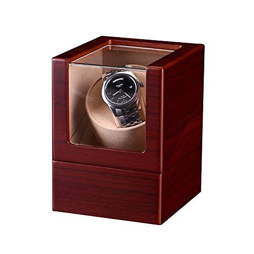 CCAN Reloj enrollador automático a Prueba de Polvo, Caja mecánica de Cuerda automática con Motor silencioso, exhibición de Almacenamiento, Estuche de joyería para 1 Reloj Individual Happy Life
