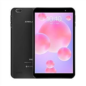 Tablet PC 8 Pulgadas Android 10.0, TECLAST P80h HD IPS 2GB RAM 32GB ROM Tableta Táctil Quad-Core y Type-C Procesador UNISOC WiFi Bluetooth GPS 128GB Extensión TF
