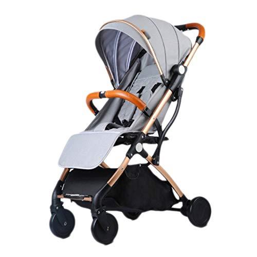 LOFAMI-Landaus Poussette bébé à roulettes réglable en Hauteur, Avion, Transport léger, Poussette de Voyage pour Enfants (Color : Light Gray, Taille : 66 * 36 * 98cm)