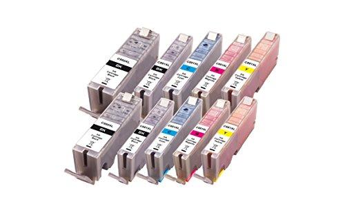 Peach 10er-Pack Tintenpatronen, XL-Ergiebigkeit,  kompatibel zu Canon PGI-550XL, CLI-551XL