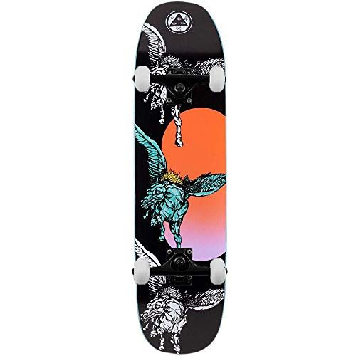 Welcome Peggy - Skateboard completo Sone of Moontrimmer, 21 cm, colore: Nero