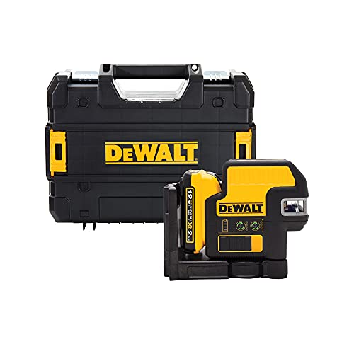 DEWALT 12V MAX Line Laser, 5 Spot + Cross Line, Green (DW0825LG)