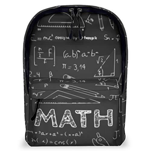 Rucksack Mathematik Freizeit Büchertasche - Tafel für Wandern Camping White 43x32x16cm