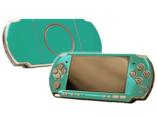 Teal Turquoise Vinyl Decal Faceplate Mod Skin Kit for Sony PlayStation Portable 3000 Console by System Skins