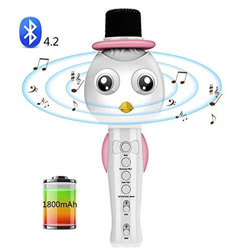 SEHNGY Bluetooth microfoon voor kinderen, draagbare draadloze karaoke-handmicrofoon, voor jongens, meisjes, familie, party, muziek, zang, spelen, ondersteuning voor Android, iOS, iPhone, iPad en tv