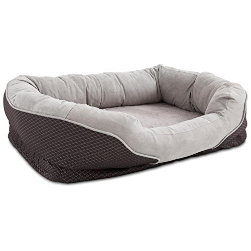 """Petco Orthopedic Peaceful Nester Gray Dog Bed, 40"""" L X 30"""" W X 10""""H, Large"""