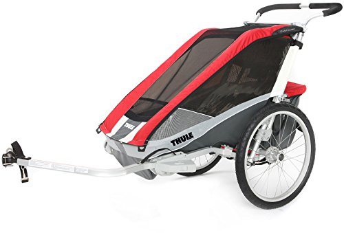 Thule Chariot Cougar 2Doble de los niños niño Portador, Color Rojo/Plata/Gris