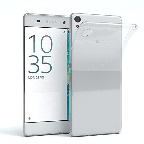EAZY CASE Sony Xperia XA Schutzhülle Silikon, Ultra dünn, Slimcover, Handyhülle, Silikonhülle, Backcover, Durchsichtig, Klar Transparent