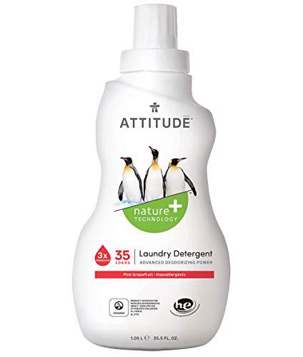 Attitude Waschmittel, 3 Stück, konzentriert, Pink Grapefruit, 90 ml