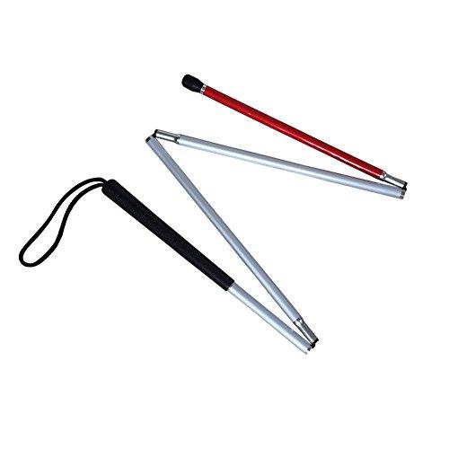 Aluminio Baston Blanco para Ciegos y Baja Vision Plegable, 4 Secciones, 120cm (47.2 pulgada) 🔥