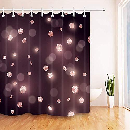 Douchegordijn Creatieve stippen Polyester Stof Waterdicht en Meeldauw 3D Hd afdrukken Home Decoratie 180x 200cm 12 Haken