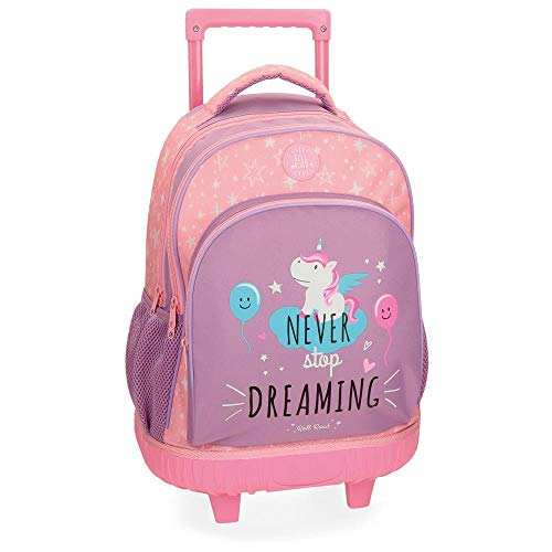 Roll Road Unicorn 4422962 Mochila Escolar, 44 cm, 19.6 Litros, Rosa