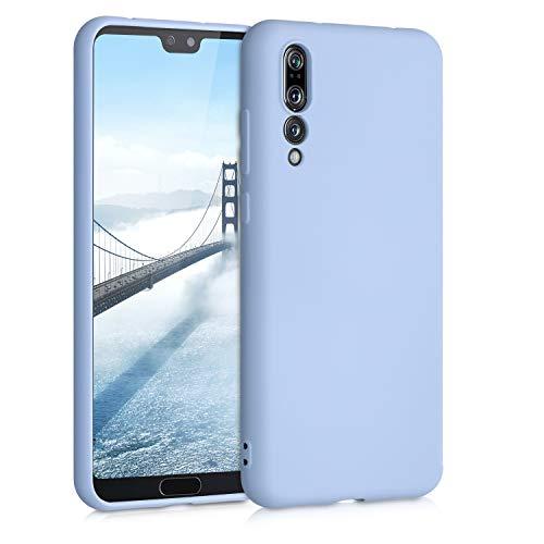 kwmobile Funda Compatible con Huawei P20 Pro - Carcasa de Silicona TPU para móvil - Cover Trasero en Azul Claro Mate