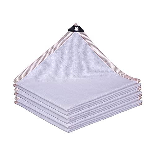 SSHA Lona Toldo Blanco Sombrero Sombrero Sombra Shade Shade Sails 85% Pantalla de Pantalla Solar,Patio de Tejido de 8 Clavijas Balcón Balcón Flores Planta Sala de Sol Sombreado Red Malla Sombra