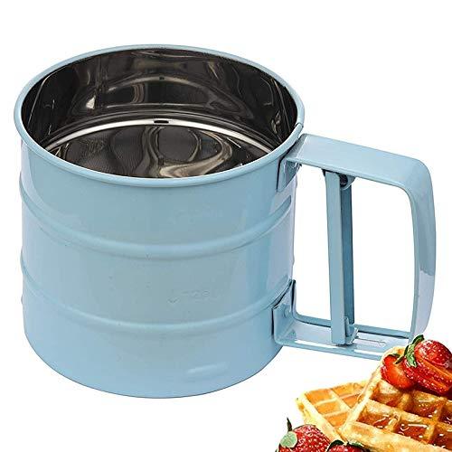 Haudang Colador de harina para hornear con 24 herramientas de acero inoxidable para azúcar, harina y café en polvo