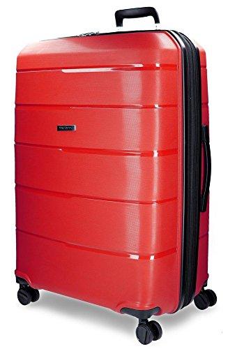Movom Wind Maleta grande Rojo 50x75x29 cms Rígida Polipropileno Cierre TSA 94L 4,4Kgs 4 ruedas dobles Extensible