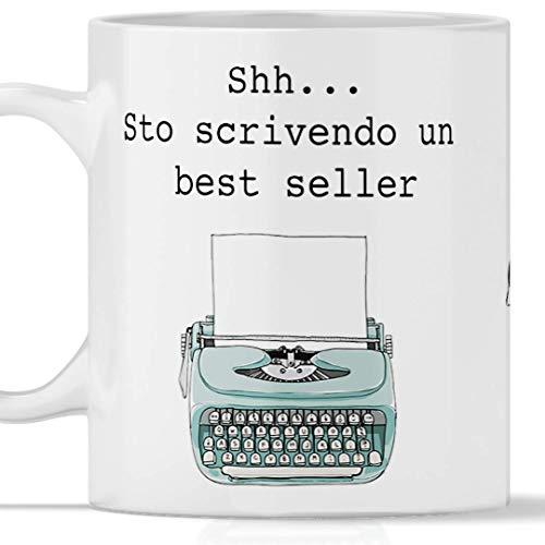 TeeDesign Taza de escritor totalmente impresa, apta para desayuno, tés, tisana, café, capuchino. También ideal como regalo para quien escribe un romance y desea hacer el escritor