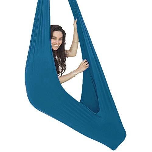 YAWEDA Silla de Columpio for Colgar con Asiento Ajustable y Antena for Yoga, Hamaca sensorial for niños o Adultos, Cuerda de árbol y Terapia de Autismo