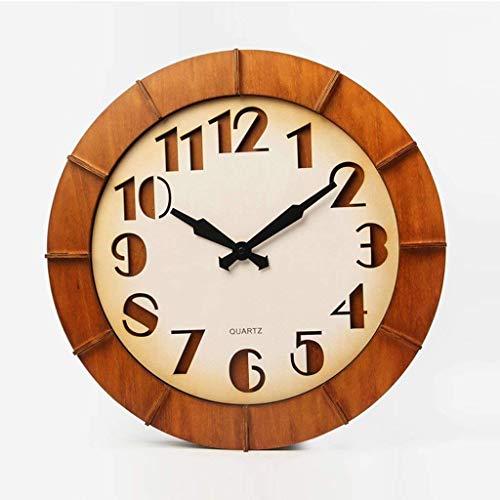 YLCJ wandklok van hout op een breedte van 18 inch in salon top Gamma oude hangtafel creatieve wekker Creative Cava