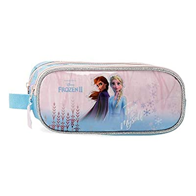 Disney Estuche Frozen True to Myself con dos Compartimentos, Azul de