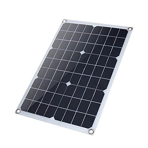 Camisin Panel Fotovoltaico Solar Monocristalino de 20W 18V Panel Solar Panel de Carga Solar PortáTil EcolóGico