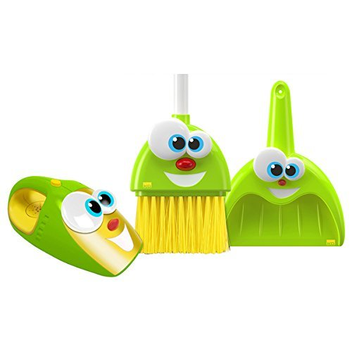 Kidz Delight The Talking Broom, Dustpan and Vacuum Silly Sam, Pan and Larry Combo