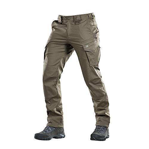Aggressor Flex – Tactical Pants – Men Cotton Cargo Pockets (Olive Dark, M/R)