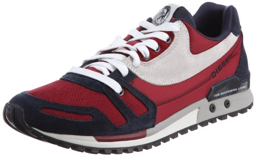 Diesel Absolute Fashion Herren Sneaker, (Biking Red/Blue High), 41.5 EU