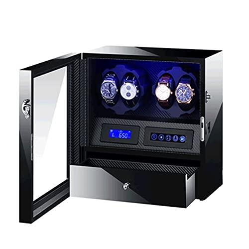 WRNM Cajas Giratorias para Relojes Motor Clase Alta De 4 +5 Ranuras Pintura Piano De Lujo Caja Almacenamiento Lujo Madera