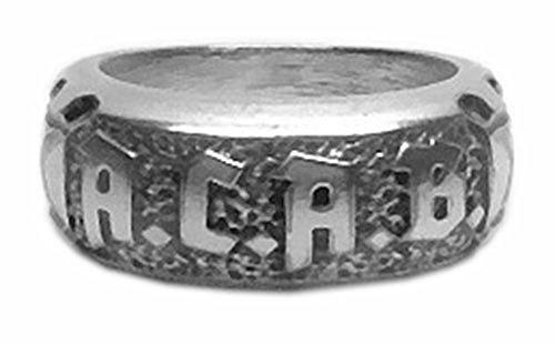 MK-Art fibra ACAB anillo ACAB. Hardcore, Hooligans, Rocker anillo, motociclistas,