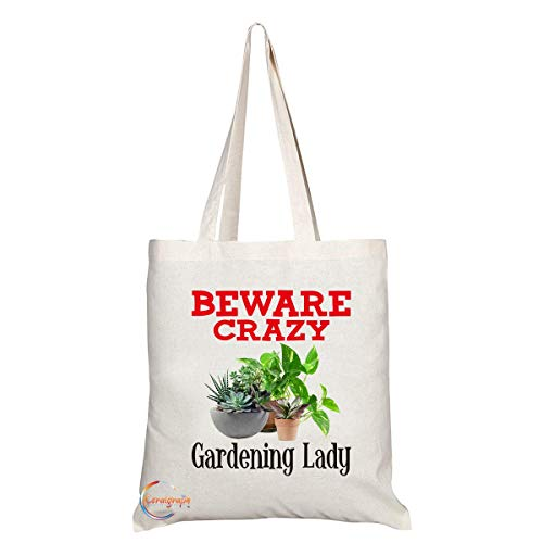 TB355 Beware Crazy Gardening Lad...