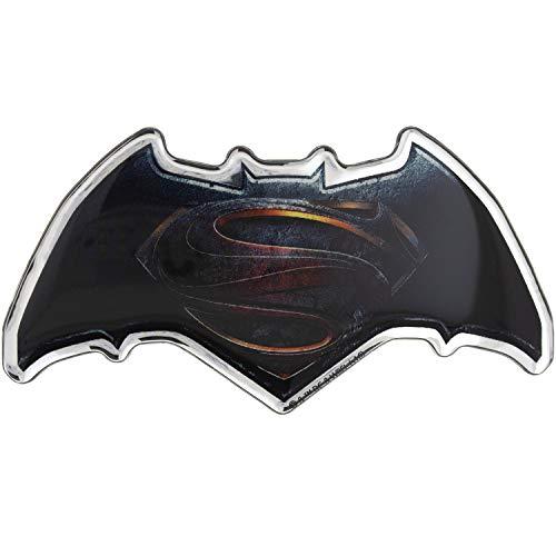 Fan Emblems Batman v Superman: Dawn of Justice Domed Chrome Car Decal - Movie Logo