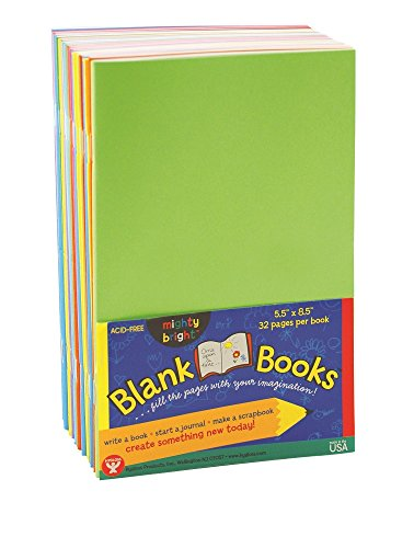 Hygloss Blank Books for Journaling, Sketching, Writing & More – for Arts & Crafts, 5.5 x 8.5 Inches-20 Pack, 10 Assorted Bright, Fun Colors