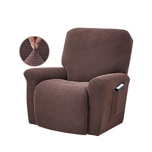VONKY Estiramiento de sillón reclinable Funda elástica Cobertura sólida Llena Sustitución de Color Sofá Cubierta para LAZBOY, Chocolate