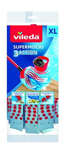 Vileda 3Action Supermocio Ricambio, 1 pezzo