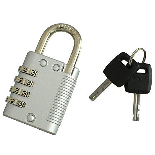 ハイロジック 番号を変えられる 小鍵でもダイヤルでも開けられる南京錠 鍵付4段文字合せ錠 40mm キー2本付き G-227 951936
