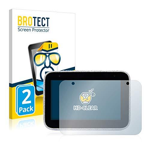 brotect 2-Pièces Protection Ecran Compatible avec Lenovo Smart Clock - Film Protection Ultra Clair