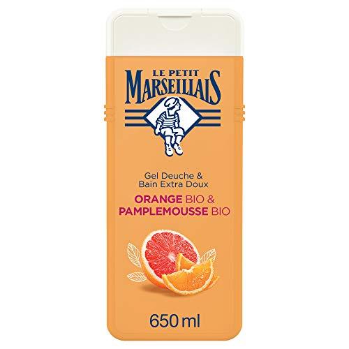 Le Petit Marseillais Gel Douche & Bain Extra Doux Orange Bio et Pamplemousse Bio 650ml