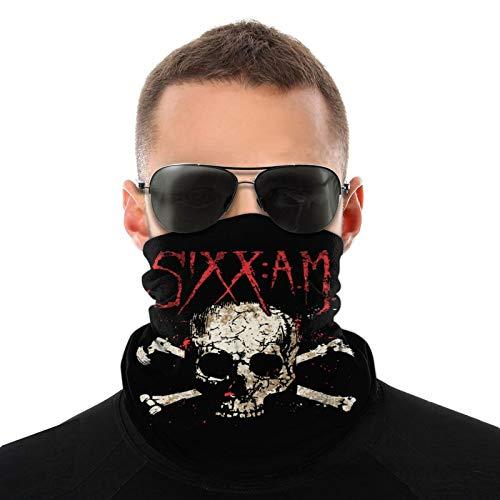 Sixx Am Logo Unisex Variety Face Mask Bandanas,3d Printe Dseamless Polyester Balaclava Fishing Face Neck Anti Uv Face Scarf Breathable Kerchief