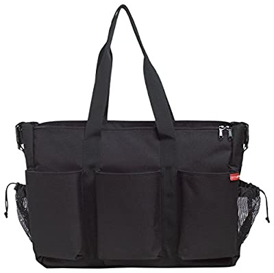 Skip Hop Duo Double Hold-it-All Diaper Bag, Black