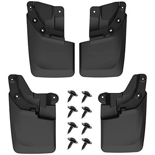 oEdRo Upgraded Front Rear Mud Flaps Compatible with 2016-2020 Toyota Tacoma (for Models with OEM Fender Flares ONLY), Full Set 4pc Splash Mud Guards