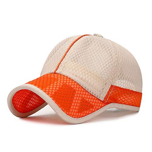sdssup Baseballmütze Grundschule Mode Sport atmungsaktiv Sonnenschirm Hut Beige mittleres Kind einstellbar