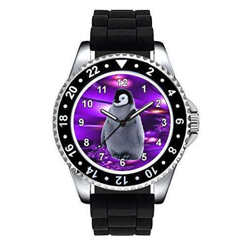 Timest - Pinguino - Orologio da polso Unisex con Cinturino in Silicone analogico al quarzo CSE070SB