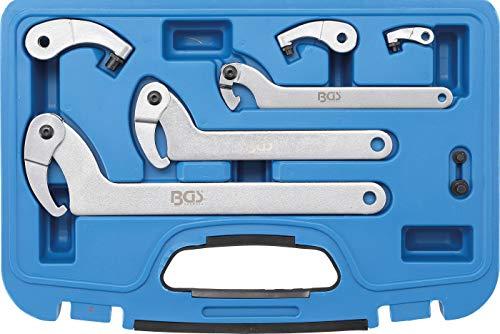 BGS 8542 | Hakenschlüssel-Satz | 35 - 120 mm | 8-tlg.