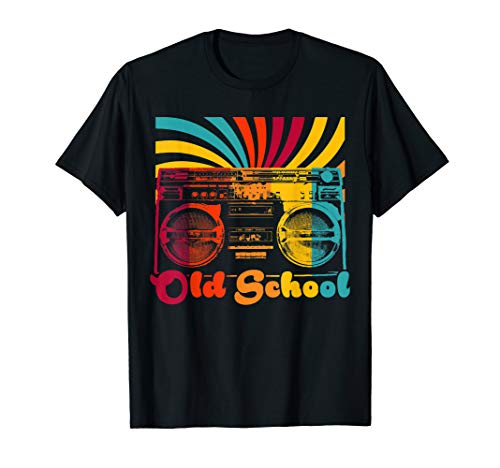 Retro Old School Cool Portable Boombox cassette HipHop Gift T-Shirt