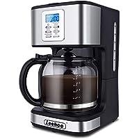 Leehoo 900 Watts 2-12 Cup Programmable Coffee Machine with Glass Carafe
